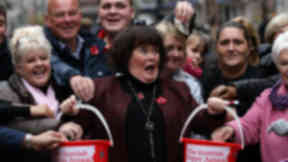 Susan Boyle publicises Scottish Poppy appeal PoppyScotland on 6 November 3012 in Glasgow