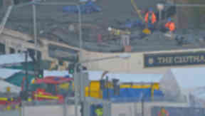The helicopter came down on the Clutha in November 2013.