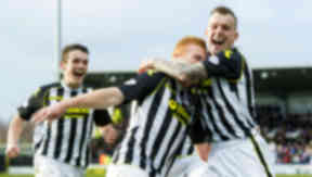 Conor Newton, John McGinn, Gregg Wylde, St Mirren, March 2014.