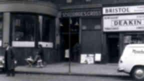 Underground overground: The St George's Cross station in 1962.