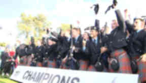 Pipers: Thousands will descend on Glasgow.