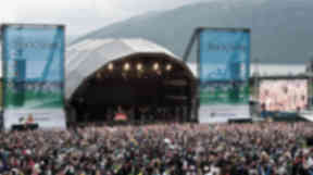 A photo of RockNess' stage