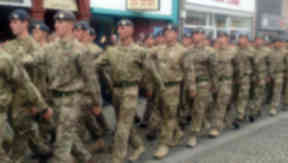 RAF 5 Force Protection Wing march through Elgin May 9 2014