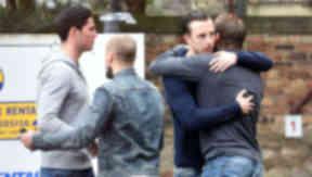 Dylan McGowan, Jamie Hamill, Ryan Stevenson, Danny Wilson, Hearts, May 2014.
