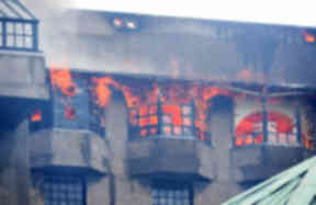 Fire: The Glasgow School of Art went up in flames.