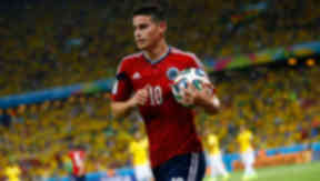 Colombian playmaker James Rodriguez was top goalscorer at the 2014 World Cup.