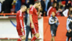 Aberdeen after their 0-0 draw with FC Groningen in the Europa League.