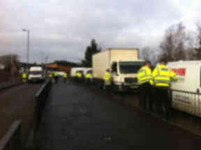 Operation: Vans were stopped and checked by police and partner agencies on Muir Street, Hamilton