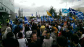 BBC Bias protest Glasgow September 14, 2014.