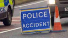 Crash: Man died at scene.