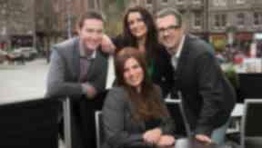 STV Edinburgh presenters for The Fountainbridge Show