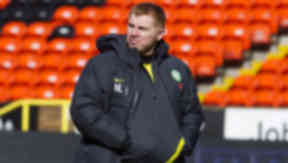 Neil Lennon at Tannadice