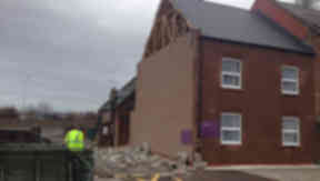 Premier Inn at Inverness had part of its gable end ripped off during the night.