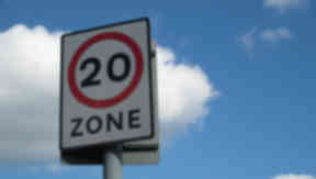 20mph: Ms Johnstone wants the lower speed limit in redidential areas.