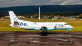 Loganair: Flybe flight operated by the regional airline.