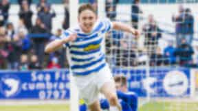 Morton's Declan McManus celebrates after scoring his side's third goal