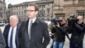 Andy Coulson arriving at High Court in Edinburgh on May 12 2015 for a hearing into his perjury trial. Quality news iamge