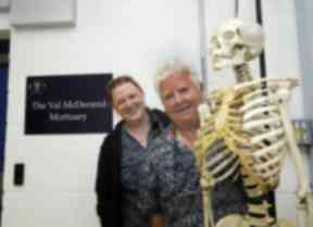 Culture: Crime writer Val McDermid, right, pictured with Professor Sue Black of Dundee University.