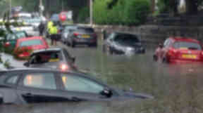 Aberdeen: Severe flooding left cars submerged in July.
