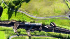 Freight train crash in Cumnock, Ayrshire. Uploaded August 2 2015.