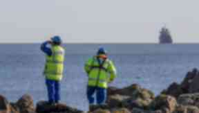 Large scale search for man who fell overboard from boat off coast of Aberdeen. Pic from Newsline.