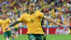 New Dundee United signing Adam Taggart playing for Australia in World Cup 2014 against Spain uploaded from Press Association September 1, 2015