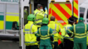 Crash: Driver of car in hospital after collision with lorry.