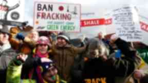 Energy: Protesters welcomed the Government's decision to ban fracking.