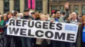 Glasgow: Pro-refugee demonstration (file pic).