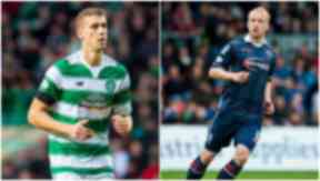 Celtic's Jozo Simunovic (left) will come up against Ross County's Liam Boyce.