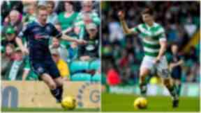 Wing: Michael Gardyne (left) could meet Kieran Tierney on the flank.