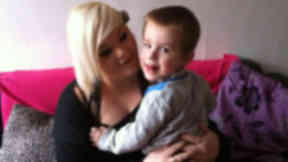 Kim Kinghorn with her three-year-old son, Kelvin