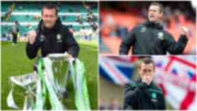 Clockwise: Winning the 2014/15 title, the Ronny Roar and disappointment against Rangers on Sunday.