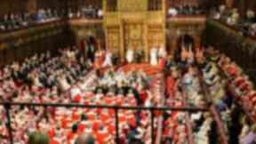 House of Lords: Peers at the state opening of parliament.