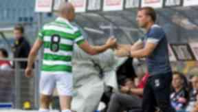 Celtic captain Scott Brown (left) with Brendan Rodgers.