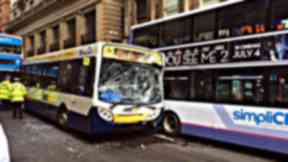 Smash: A Fastlink bus was involved in the collision.