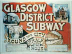 Historic sign: Glasgow District Subway.