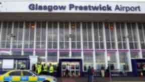 Prestwick: Firefighters said there was a high risk of explosion (file pic).