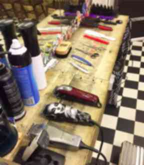 Mark packs up his tools twice a month to cut hair for the homeless.