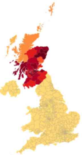 Map: Petitioners come from across Scotland.