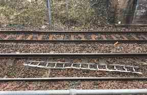 Dangerous: The train could have derailed