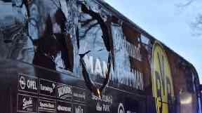 Borussia Dortmund's bus was hit by the triple blast on Tuesday as the team left a hotel in the German city.