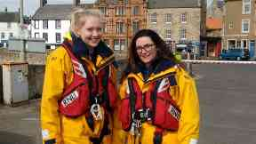 Teenage Hero: 18-year-old Danielle Marr with fellow volunteer Louise McNicoll.