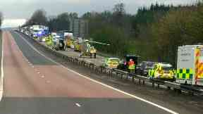 Collision: Air ambulance at scene on A9.