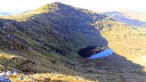 Sudden death: Man was found on Stuc An Lochain (file pic).