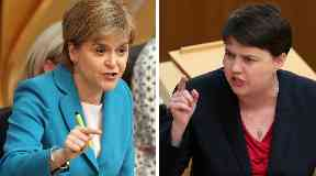 Report: Nicola Sturgeon and Ruth Davidson clashed over the health service's performance.
