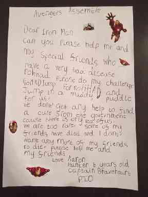 Aaron's letter to Iron Man.