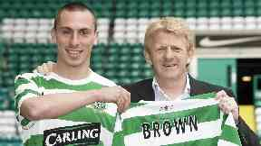 Done deal: Strachan snaps up Brown from Hibs.