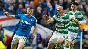 Stalwart: Brown has become a key player in the Old Firm.