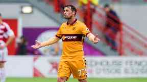 Exit: McDonald has played his last game for Motherwell.